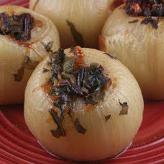 CrockPot Stuffed Onions.