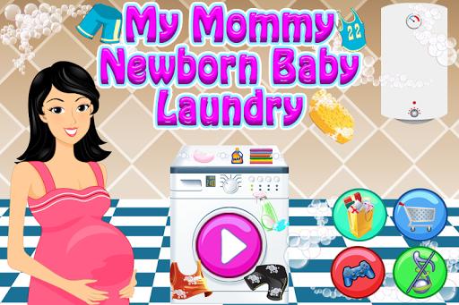 我的媽媽新生嬰兒洗衣