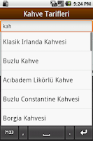 Screenshot of Kahve Tarifleri
