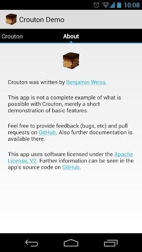 Crouton Demo Application 1 8 4 (Android) - Download APK