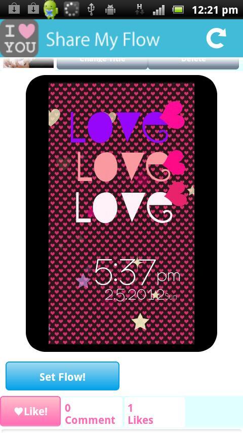 [Free]I Love Flow! Live Wall- screenshot