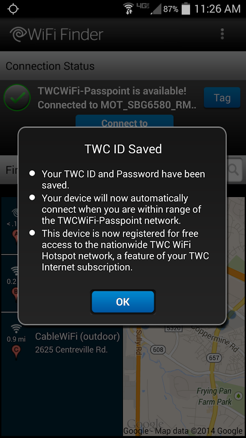 TWC WiFi Finder - screenshot