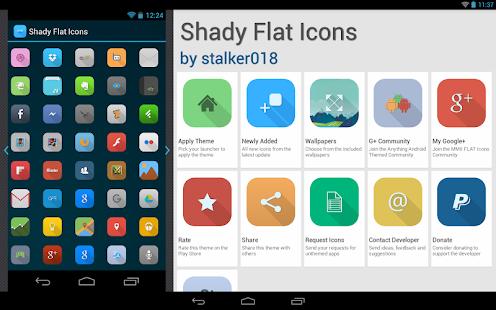 Shady Flat Apex Nova ADW Theme - screenshot thumbnail
