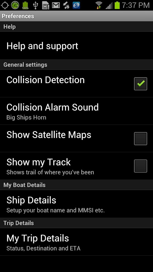 Boat Beacon - AIS Navigation - screenshot