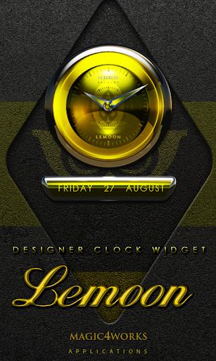 Lemoon designer Clock Widget