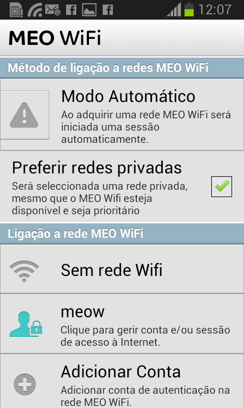 MEO WiFi - screenshot