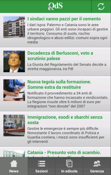 Quotidiano di Sicilia- screenshot