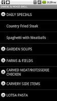 Screenshot of Campus Dining Monitor