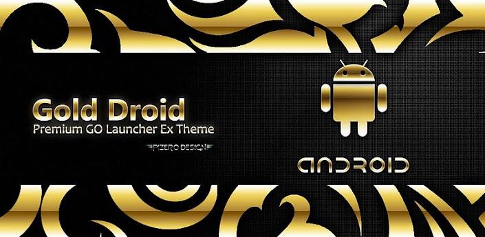 Gold Droid PRO GO Launcher EX