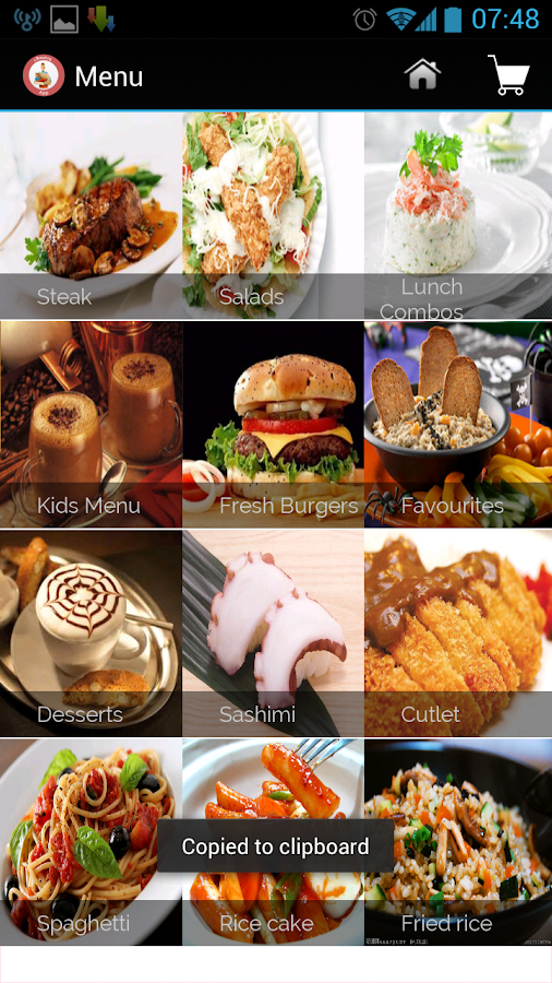 Take-out Restaurant Menu- screenshot