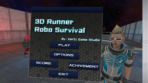 【免費街機App】3D Runner Robo Survival-APP點子