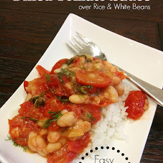 Dilled Tomato Sauce over Rice & White Beans