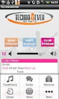 Screenshot of TECHNO4EVER Radio