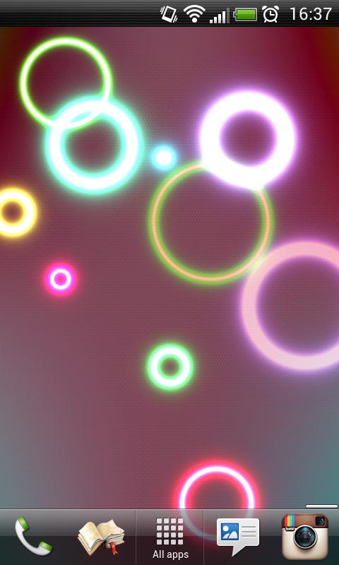 Neon Rings Live Wallpaper FREE- screenshot