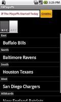 Screenshot of Football Playoff Calculator