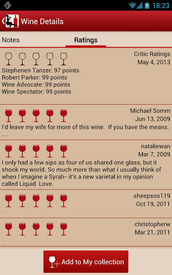 WS - Wine and Cellar - screenshot