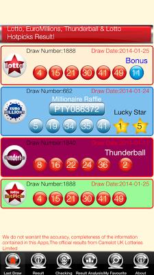 UK Lotto EuroMillions Live - screenshot