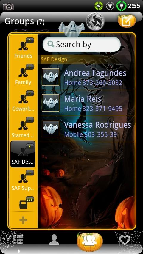 GOContacts theme HALLOWEEN- screenshot