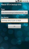 Screenshot of VeryAndroid SMS & MMS Backup