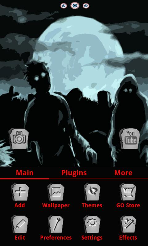 Zombie Nights GO Launcher EX - screenshot
