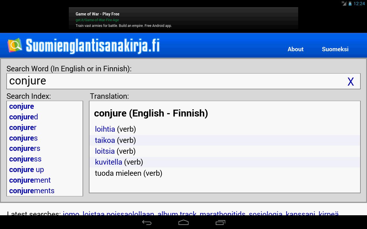 Finnish Dictionary