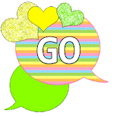 GO SMS - Loving Hearts 3