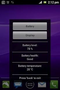 Simple Battery Widget Red- screenshot thumbnail