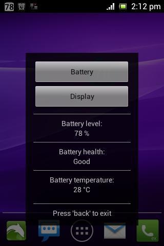 Simple Battery Widget Red- screenshot