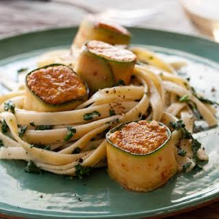 "Zucchini-Wrapped Halibut ""Scallops""."
