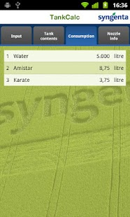 Syngenta TankCalc- screenshot thumbnail