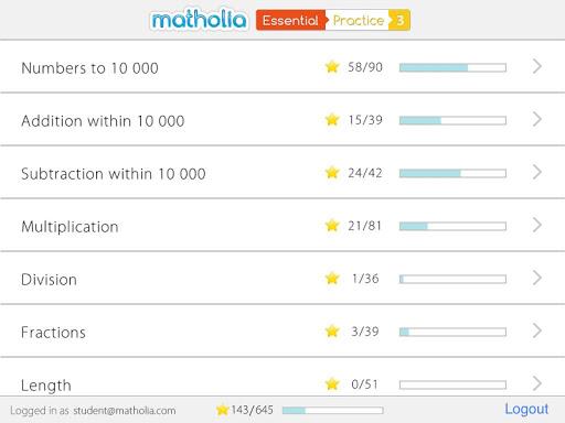 Matholia Essential Practice 3