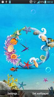 海底世界時鐘動態桌布(Free)|玩個人化App免費|玩APPs