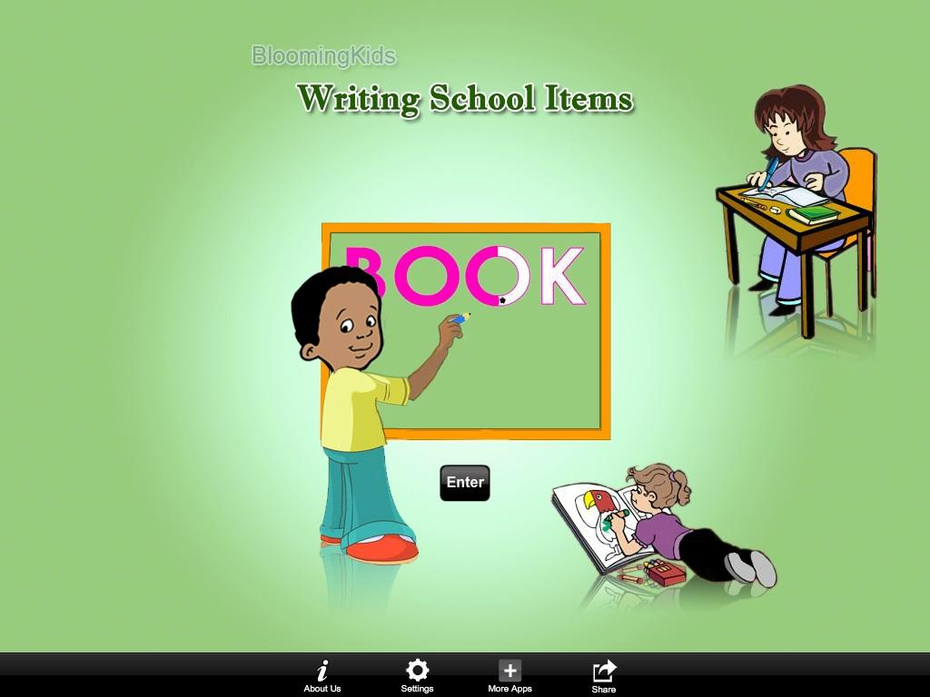 Writing School Items- screenshot