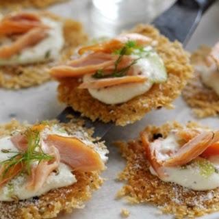 Parmigiano Reggiano Canapés with Hot Smoked Salmon