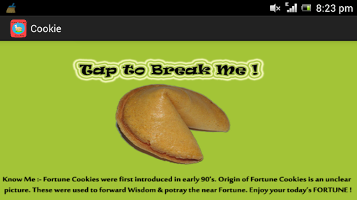 Golden Fortune Cookie App