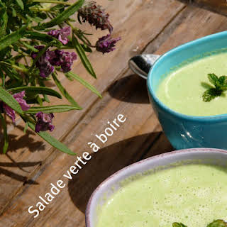 "Green Cold Soup or ""Drinkable Salad""."
