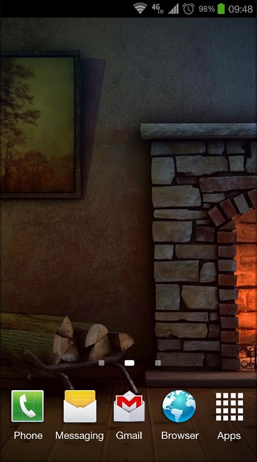 Fireplace 3D Pro lwp- screenshot