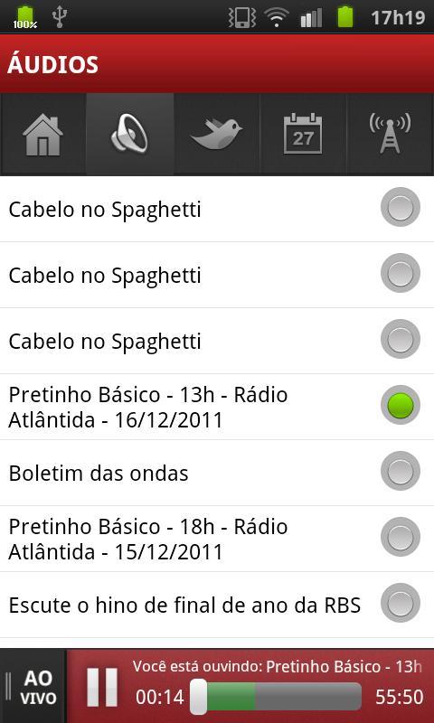 Rádio Atlântida- screenshot