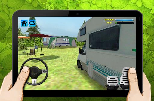 露營房車房車停車場3D
