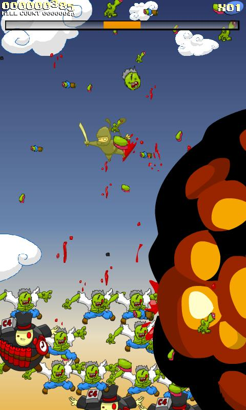 Super Ninja Skydiving +Zombies- screenshot