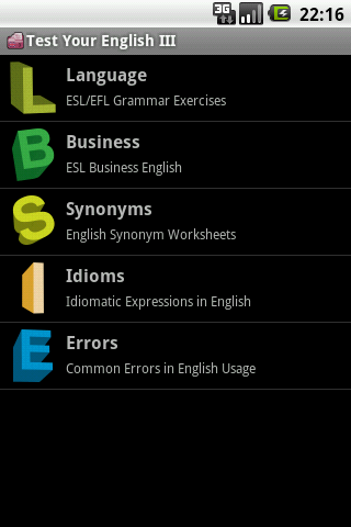 Test Your English III. - screenshot