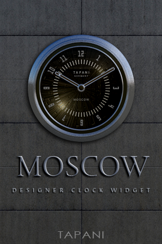 MOSCOW desktop analog clock