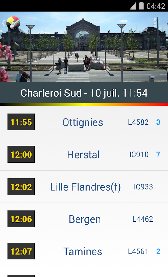 BeTrains - SNCB Belgium- screenshot