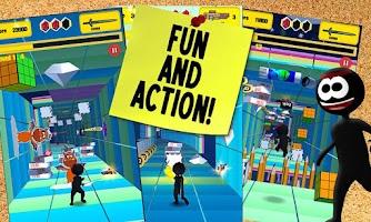 Screenshot of Stickman Run 4D - Fun Run