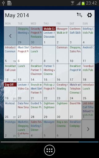 Business Calendar Beta screenshot