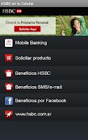 Screenshot of HSBC en tu Celular