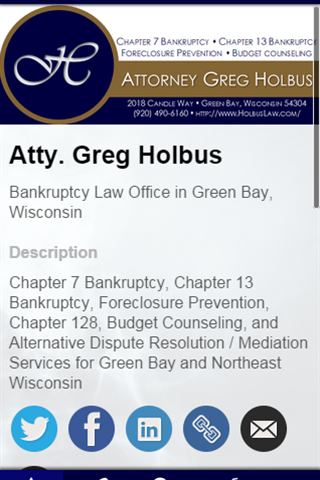 Atty. Gregory A. Holbus