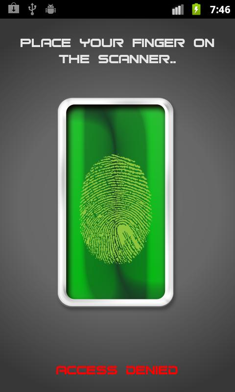 Fingerprint Lock HD - screenshot