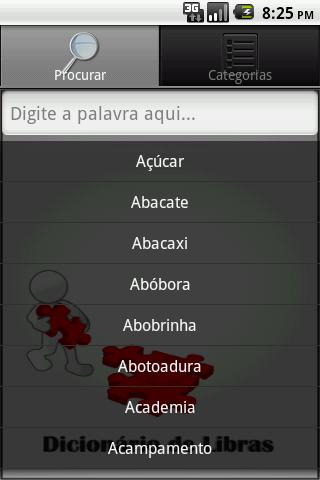 Dicionário de Libras - screenshot