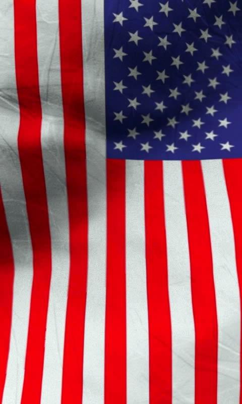 American flag live wallpaper - screenshot